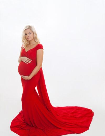 """Marianne"" - punane varrukateta väga venivast materjalist kleit"