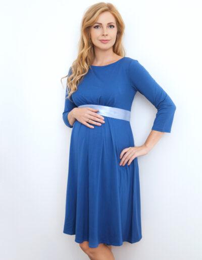 Adeele - sinine lihtne, kuid kaunis kleit rasedale
