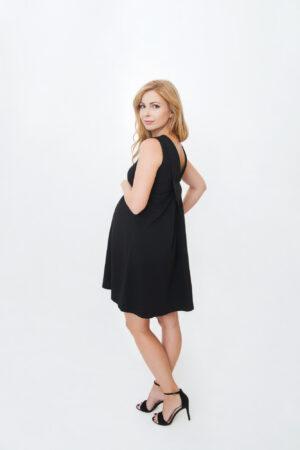 Marii - väike must kleit rasedale