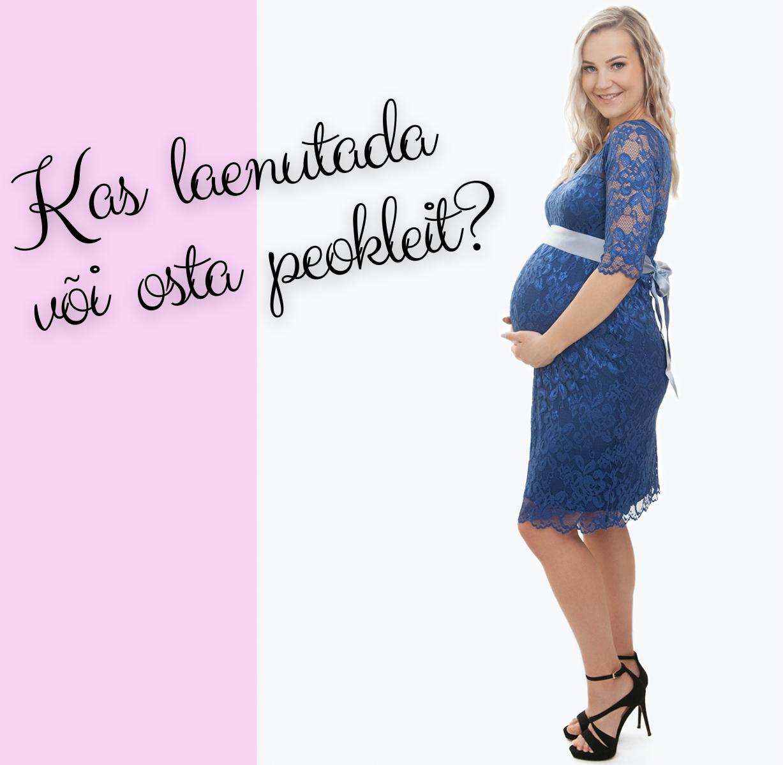 Pitsist kolmveerand varrukatega põlviniulatuv kleit rasedale